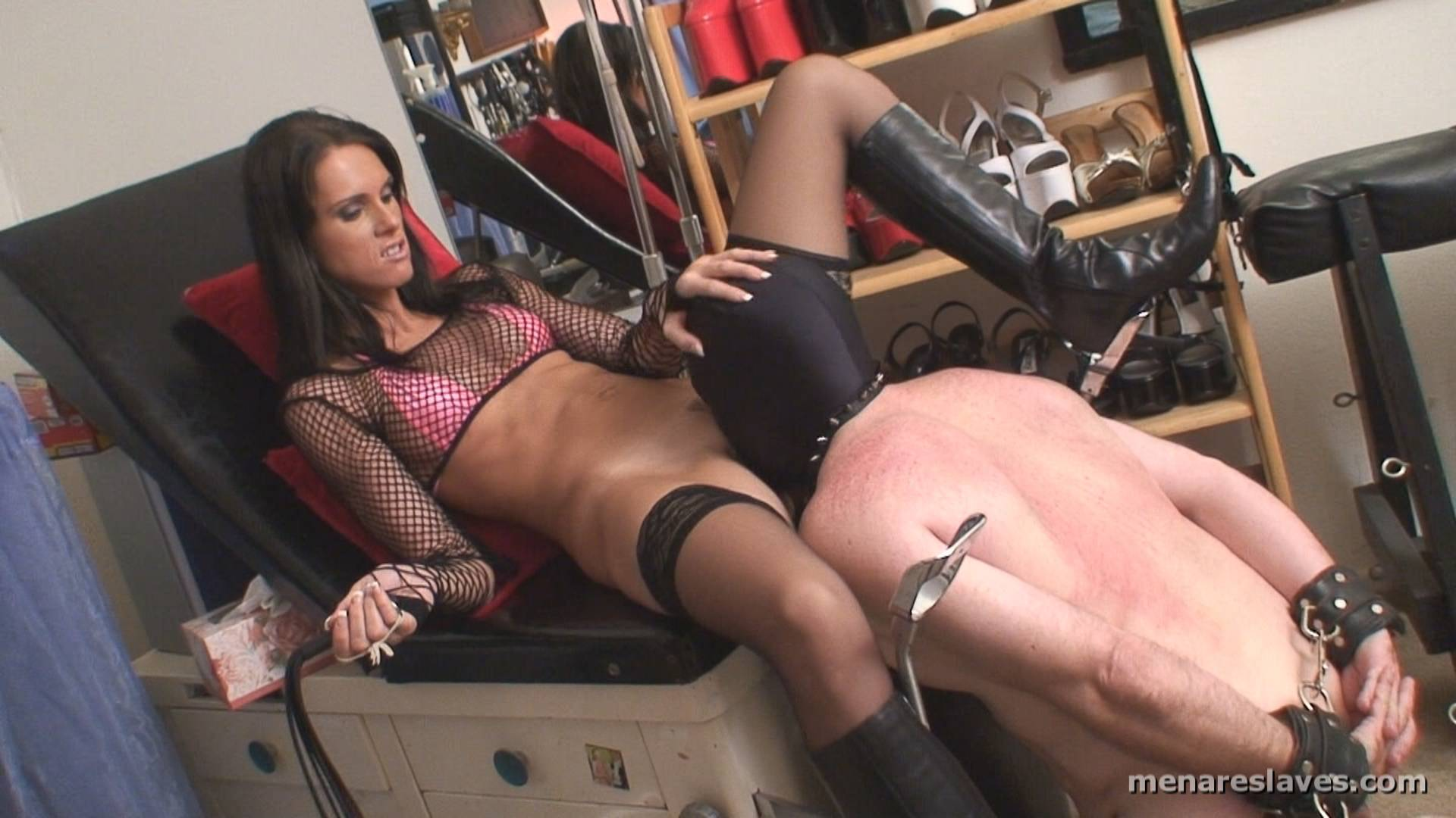 Slave Licks Feet, Ass And Sweet Lips Of The Mistress Pussy