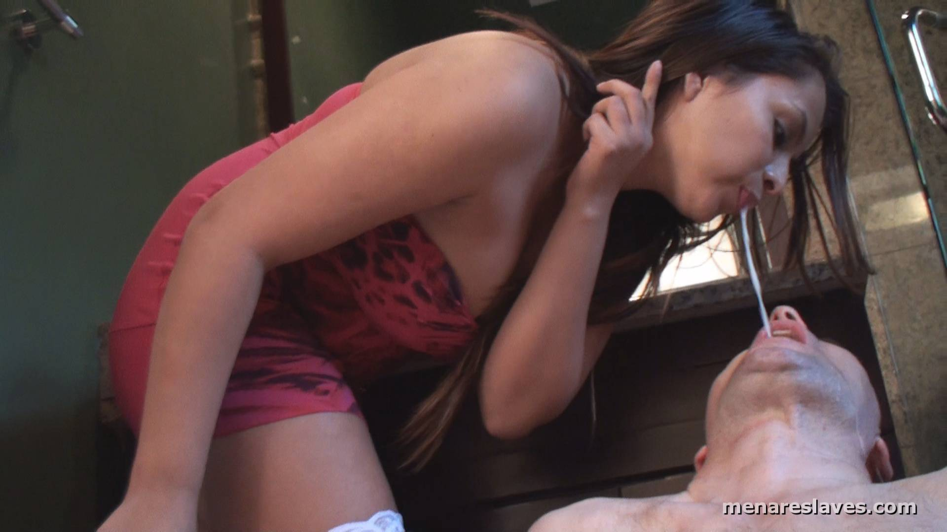 femdom-spit-in-wimps-mouth-clips